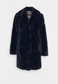 FAKE FUR MANTEL MOON RIVER MIT KUSCHELIGEM KRAGEN - Winter coat - midnight blue