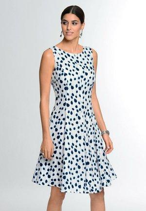 Day dress - weiß marineblau