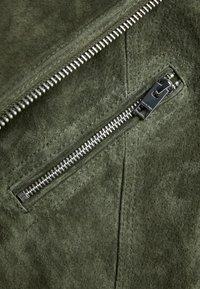 Jack & Jones - JORDANE - Leather jacket - forest night - 5