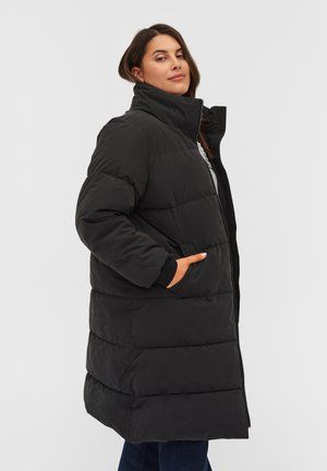 PUFF MIT REISSVERSCHLUSS - Winter coat - black