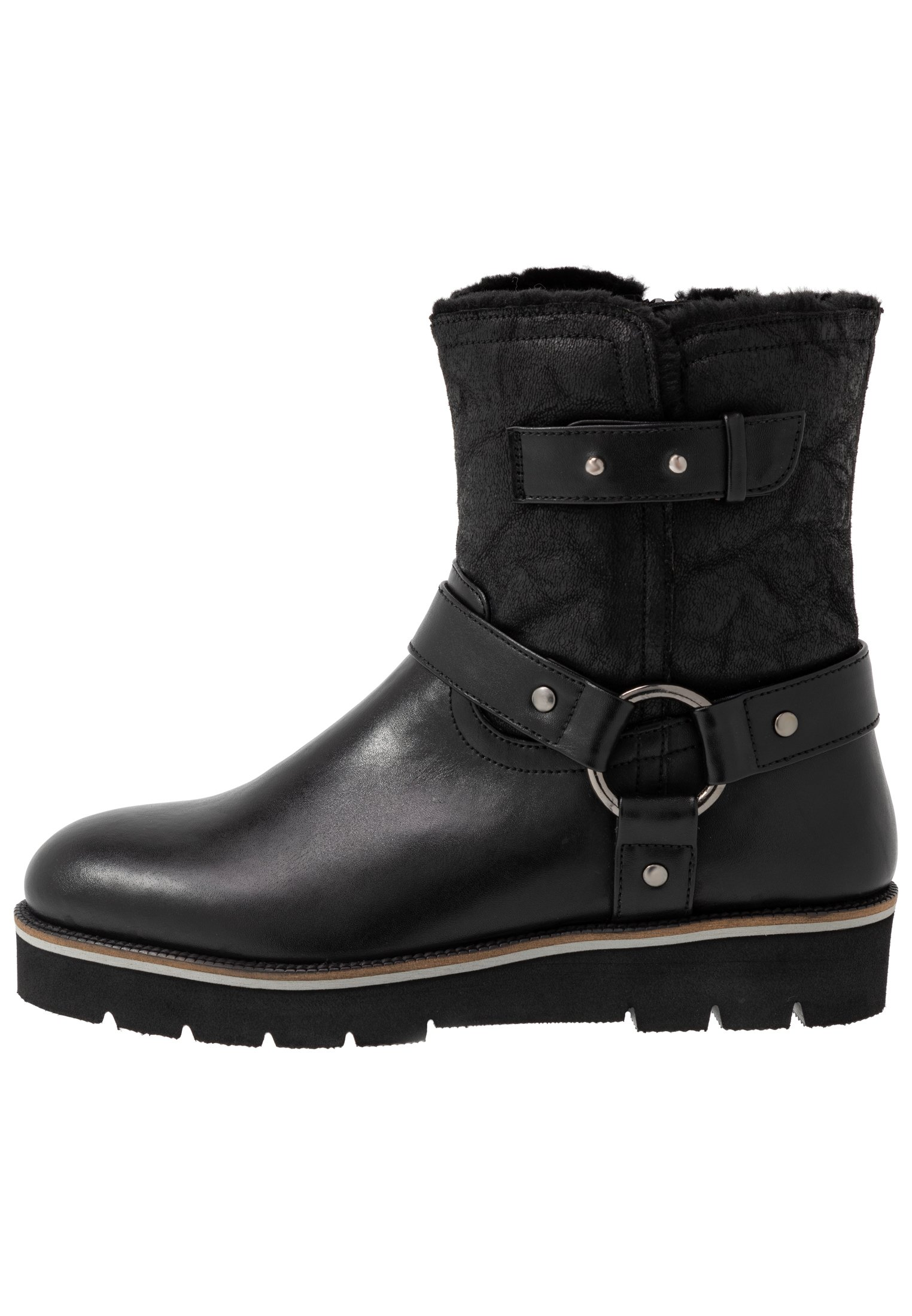 Simply Be WIDE FIT ZOE LINED BIKER BOOT Cowboy