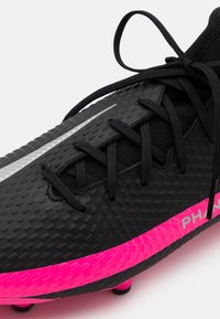 Nike Performance - PHANTOM GT ACADEMY DYNAMIC FIT MG - Moulded stud football boots - black/metallic silver/pink blast - 5