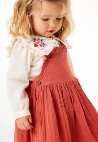 Next - BLOUSE AND PINAFORE SET  - Day dress - brown - 1