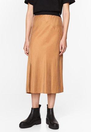 A-line skirt - dark camel