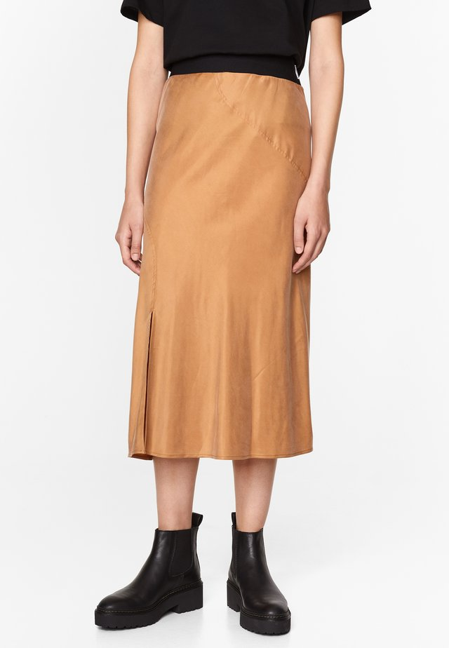 A-line skirt - dark camel