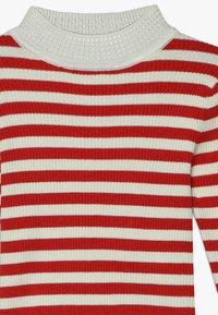 Scotch & Soda - HIGH NECK PULL - Stickad tröja - red/off white - 3