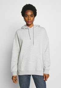 Nly by Nelly - OVERSIZED HOODIE - Hoodie - grey melange - 0