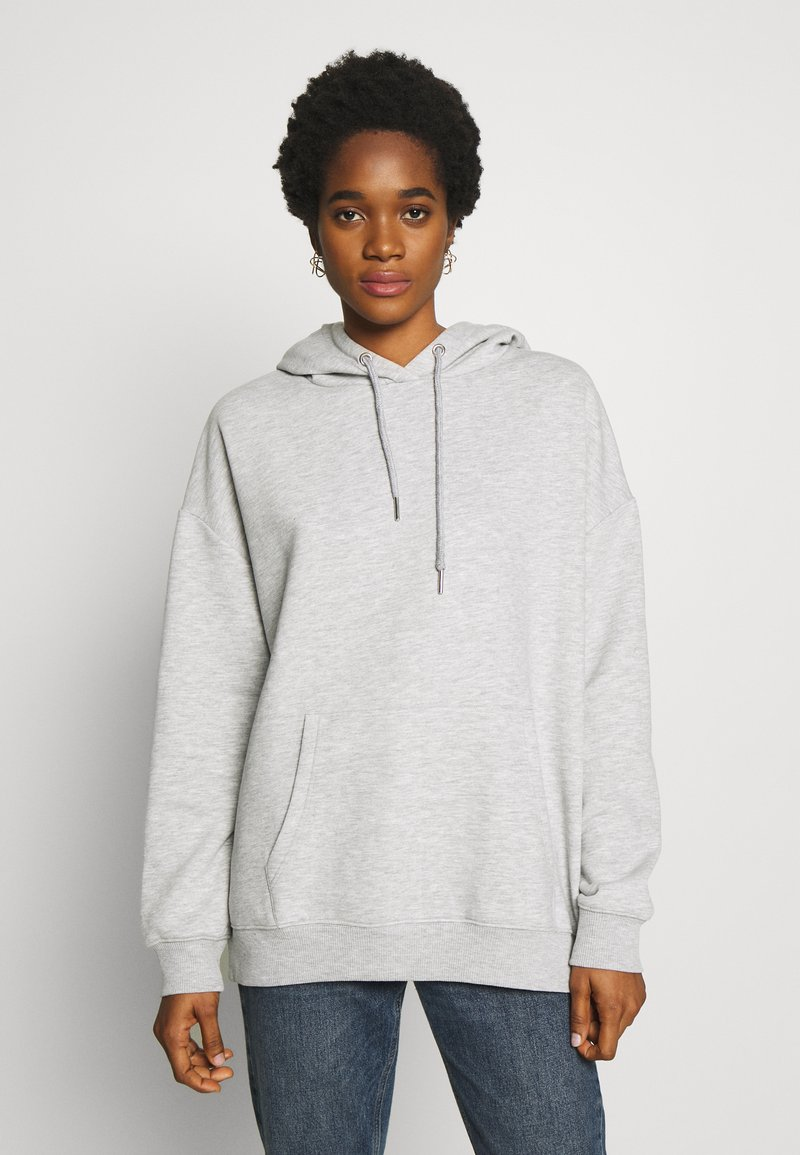 Nly by Nelly - OVERSIZED HOODIE - Hoodie - grey melange