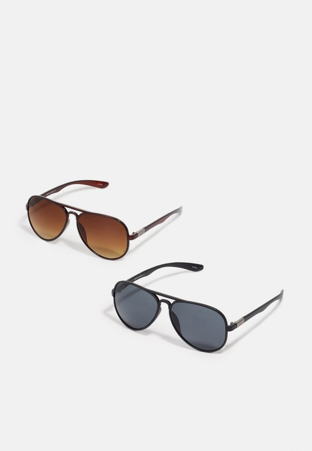 JACAVIATAS SUNGLASSES 2 PACK - Zonnebril - black/brown