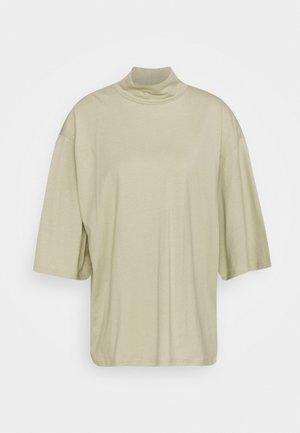 HILLIE TEE - Basic T-shirt - green dusty solid