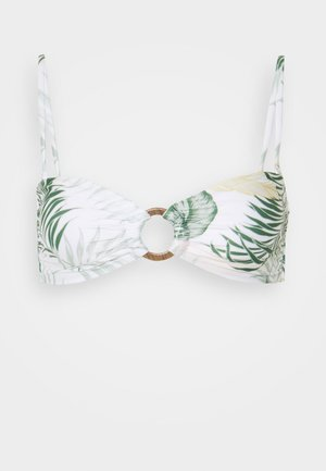 COASTAL PALMS BANDEAU - Bikini top - white
