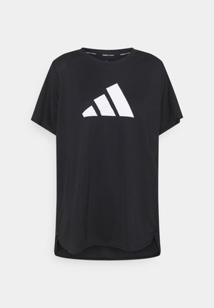 LOGO TEE - Print T-shirt - black/white