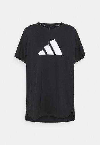 LOGO TEE - Print T-shirt - black/white