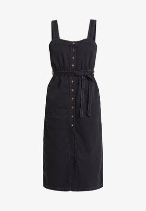 CORDELIA MIDI DRESS - Denim dress - black