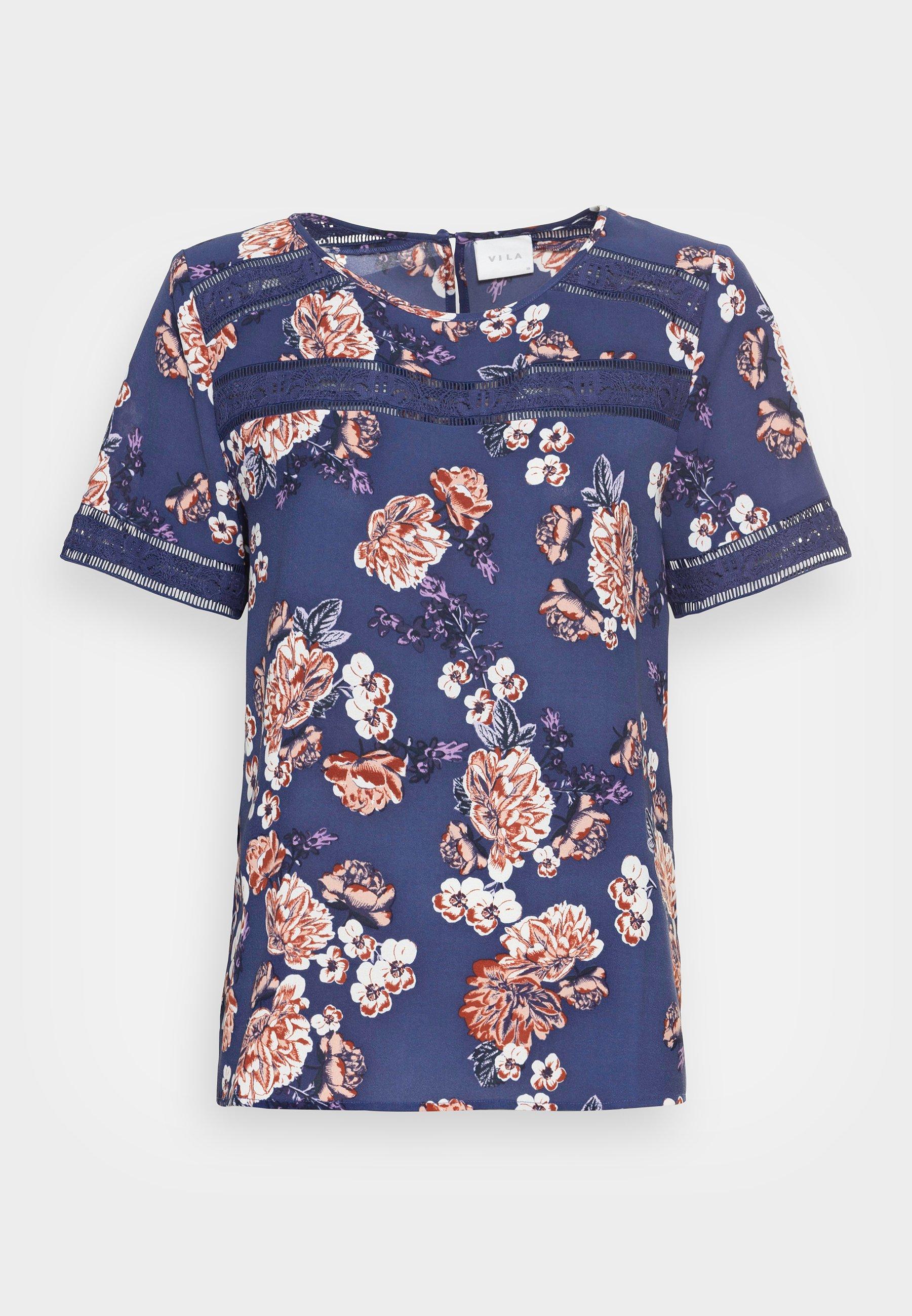 Women VISURASHA LACE  - Print T-shirt