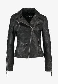 BLIND TRUST - Kožená bunda - black