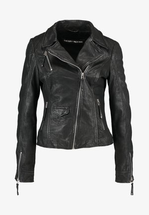BLIND TRUST - Leather jacket - black