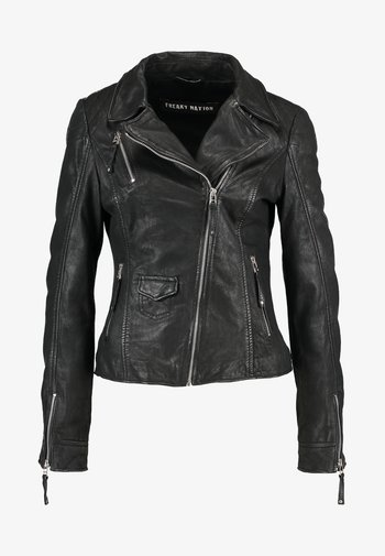 BLIND TRUST - Leather jacket - black