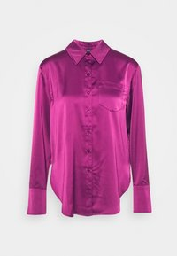 Who What Wear - Button-down blouse - deep berry - 4