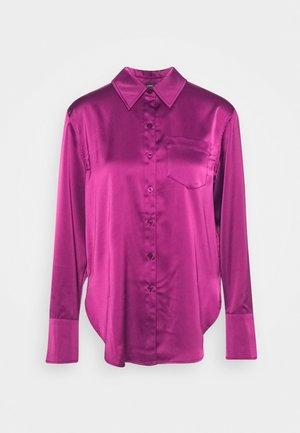 Button-down blouse - deep berry