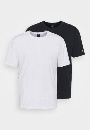 CREW NECK 2 PACK - T-shirt basique - white/navy