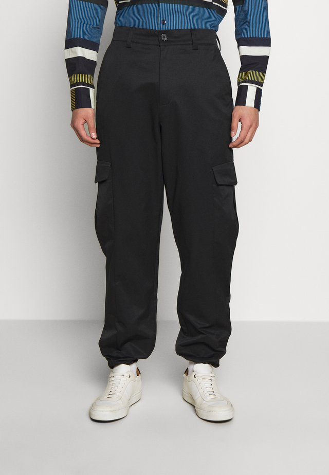 PIMP TROUSER - Cargo trousers - black