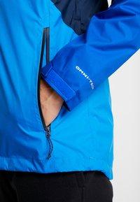Columbia - RAIN SCAPE JACKET - Impermeable - collegiate navy/azul, azure blue/collegiate navy zips - 6