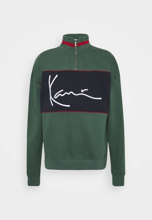 SIGNATURE BLOCK TROYER - Sweatshirts - green