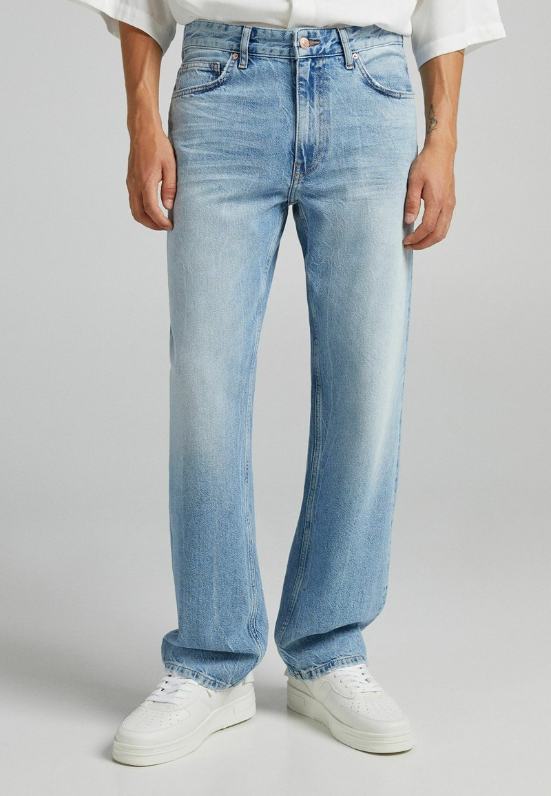 Bershka - Straight leg jeans - blue denim
