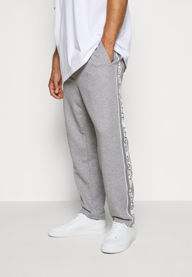 STRIPES PANTS - Tracksuit bottoms - grey melange