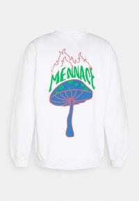 Mennace - UNISEX SHROOM PRINT SWEATSHIRT - Sweatshirt - white - 1
