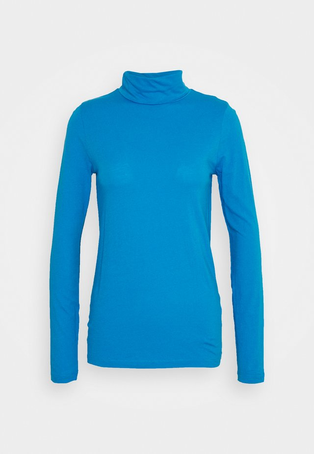 TISSUE TURTLENECK - T-shirt à manches longues - barcelona blue