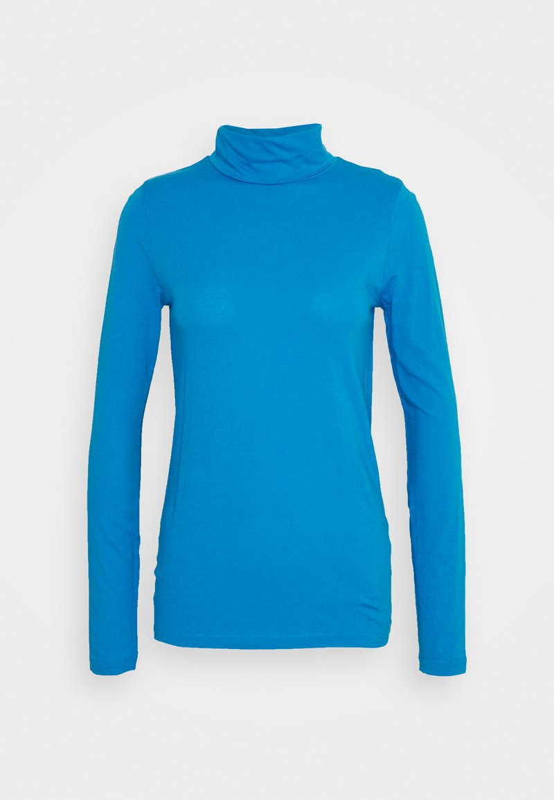 J.CREW - TISSUE TURTLENECK - Long sleeved top - barcelona blue