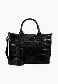 River Island - QUILTED SHOPPER - Tote bag - black - 5
