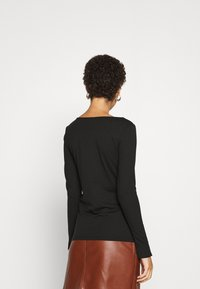 mine to five TOM TAILOR - ROUND NECK - Long sleeved top - deep black - 2