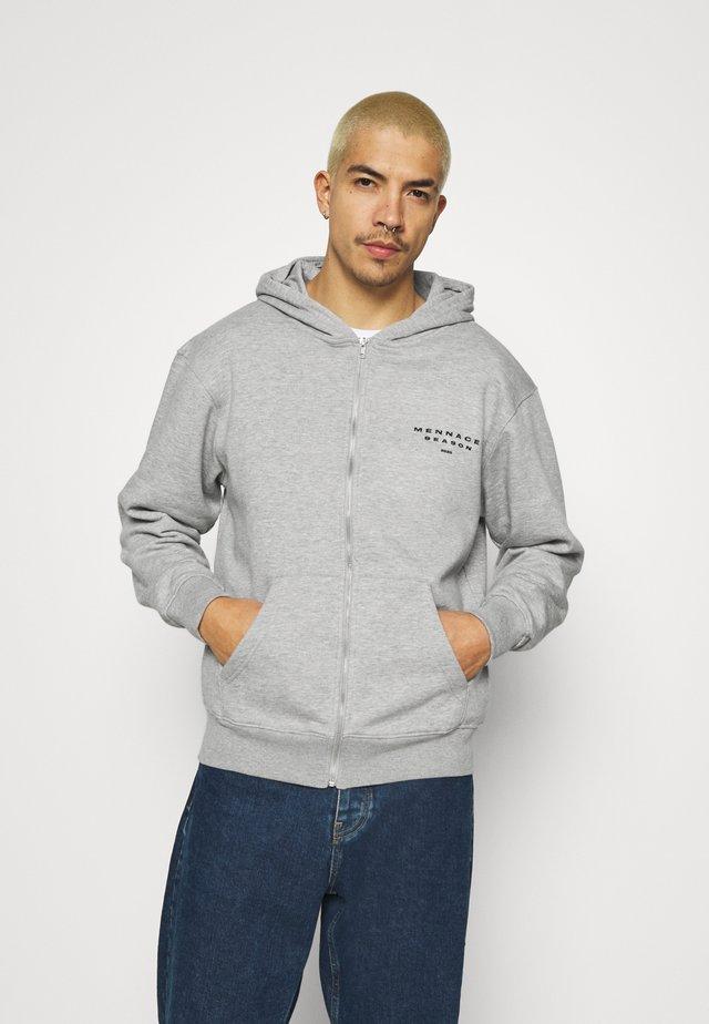 SEASON ZIP THROUGH HOODIE - Zip-up hoodie - grey