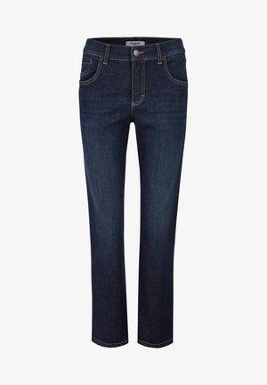 MIT SCHMUCKSTEINEN - Straight leg jeans - dunkelblau