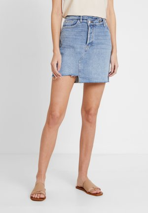 KURZ - Denim skirt - blue denim