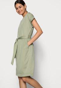 Esprit - STRUC DRESS - Shift dress - light khaki - 3