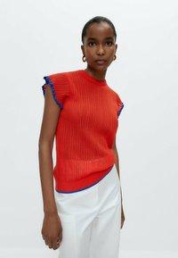 Uterqüe - Print T-shirt - red - 4