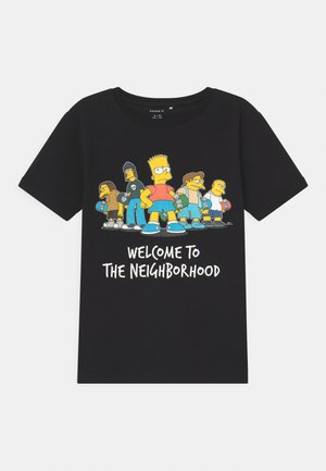 SIMPSONS BART ATLA - Print T-shirt - black