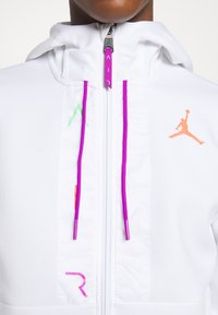 Jordan - AIR FULL ZIP - Sweatjacke - white/vivid purple/infrared - 5
