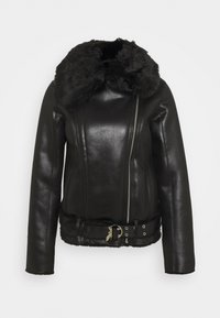Patrizia Pepe - GIUBBOTTO REVERSIBLE SHE - Leather jacket - nero - 0