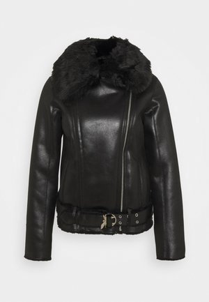 GIUBBOTTO REVERSIBLE SHE - Leather jacket - nero