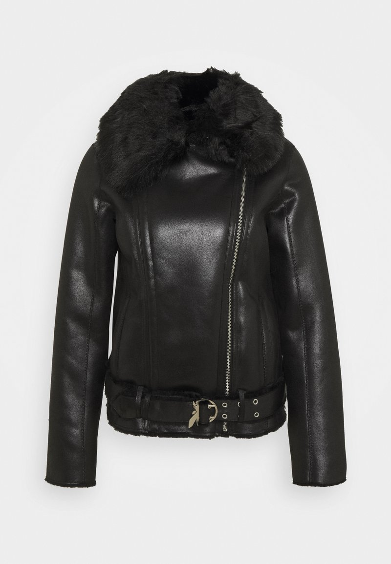 Patrizia Pepe - GIUBBOTTO REVERSIBLE SHE - Leather jacket - nero