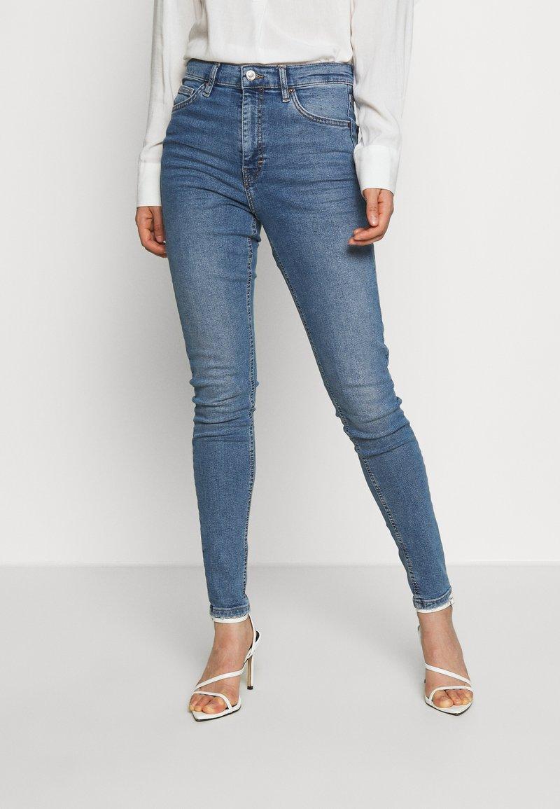 Topshop - ABRAIDED JAMIE - Skinny džíny - blue denim