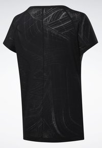 Reebok - BURNOUT TEE - T-shirts med print - Black - 8
