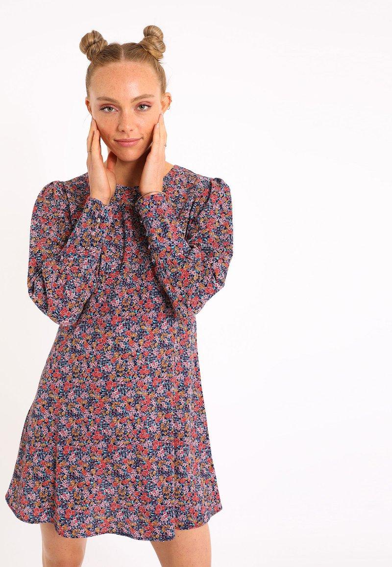 Pimkie - SÜSSES MIT BLUMEN - Day dress - marineblau