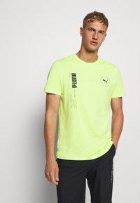 Puma - DEPTH TEE - T-shirt print - sharp green - 0