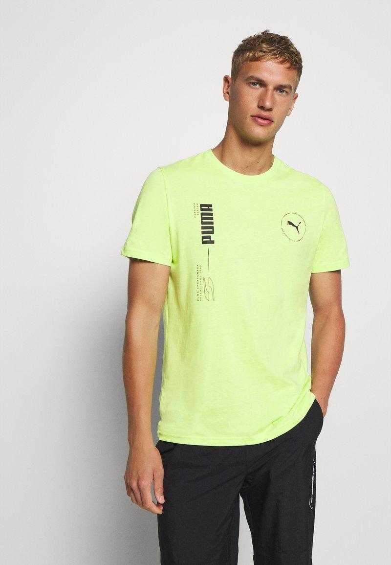 Puma - DEPTH TEE - T-shirt print - sharp green